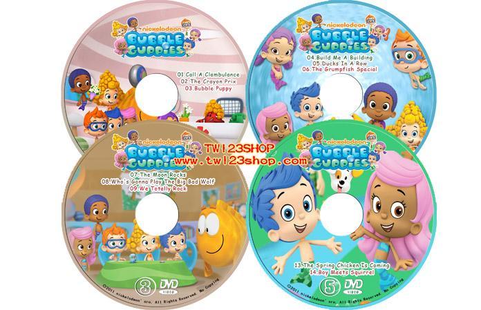 Nick Jr Bubble Guppies 泡泡孔雀魚第1-3季英文字幕17DVD_Nick